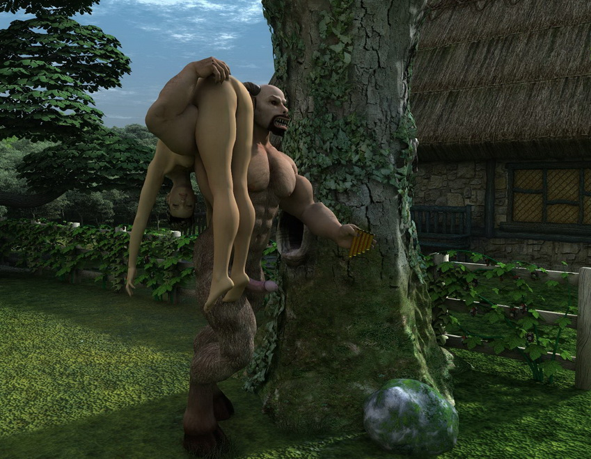 3d monster sex with nude babe - 3D Monsters Sex