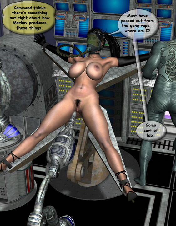 Sex with a monster - 3D Porn Comics Big and Small