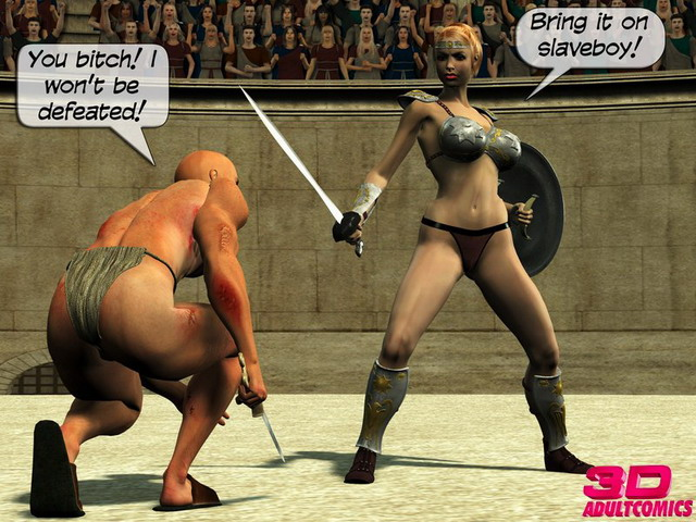 3D gallery of the day - Gladiatrix games - 3D Porn Comics