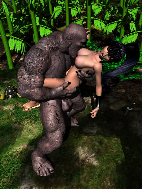 3d porn artwork - sex with stone! - 3D Monsters Sex