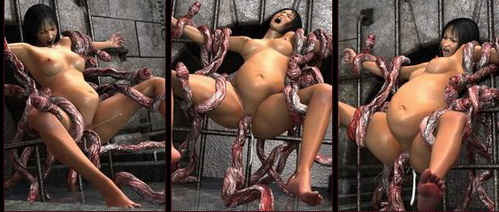 3d sex and porn with tentacles - 3D Monsters Sex Monster tentacles