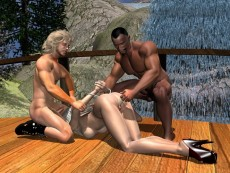 3d cartoon sex for leopard babe - Groupsex 3D