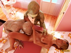 Goblins fuck sexy babe - 3D Monsters Sex Small monsters porn