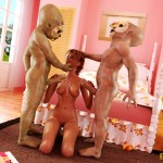 3D slut with mini monsters - 3D Monsters Sex Monster with long dick