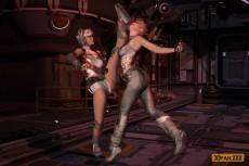 3D XXX Zone: Lesbian Fighters #3 - Lesbian Sex 3D