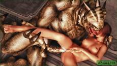 Porn in spacecraft - 3D Monsters Sex